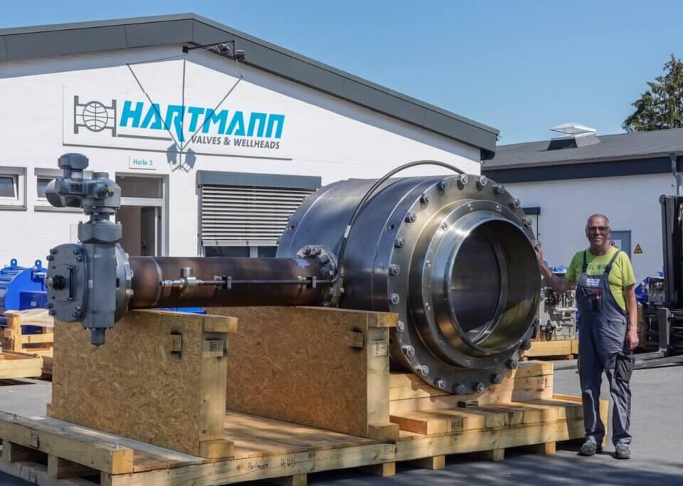 Hartmann API 6D Kugelhahn 40 Zoll gasdicht rein metallisch dichtend Gas Pipeline