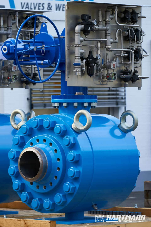 Hartmann Ball valve 16 inch class 2500 gastight metal-to-metal sealing petrochemical weld end