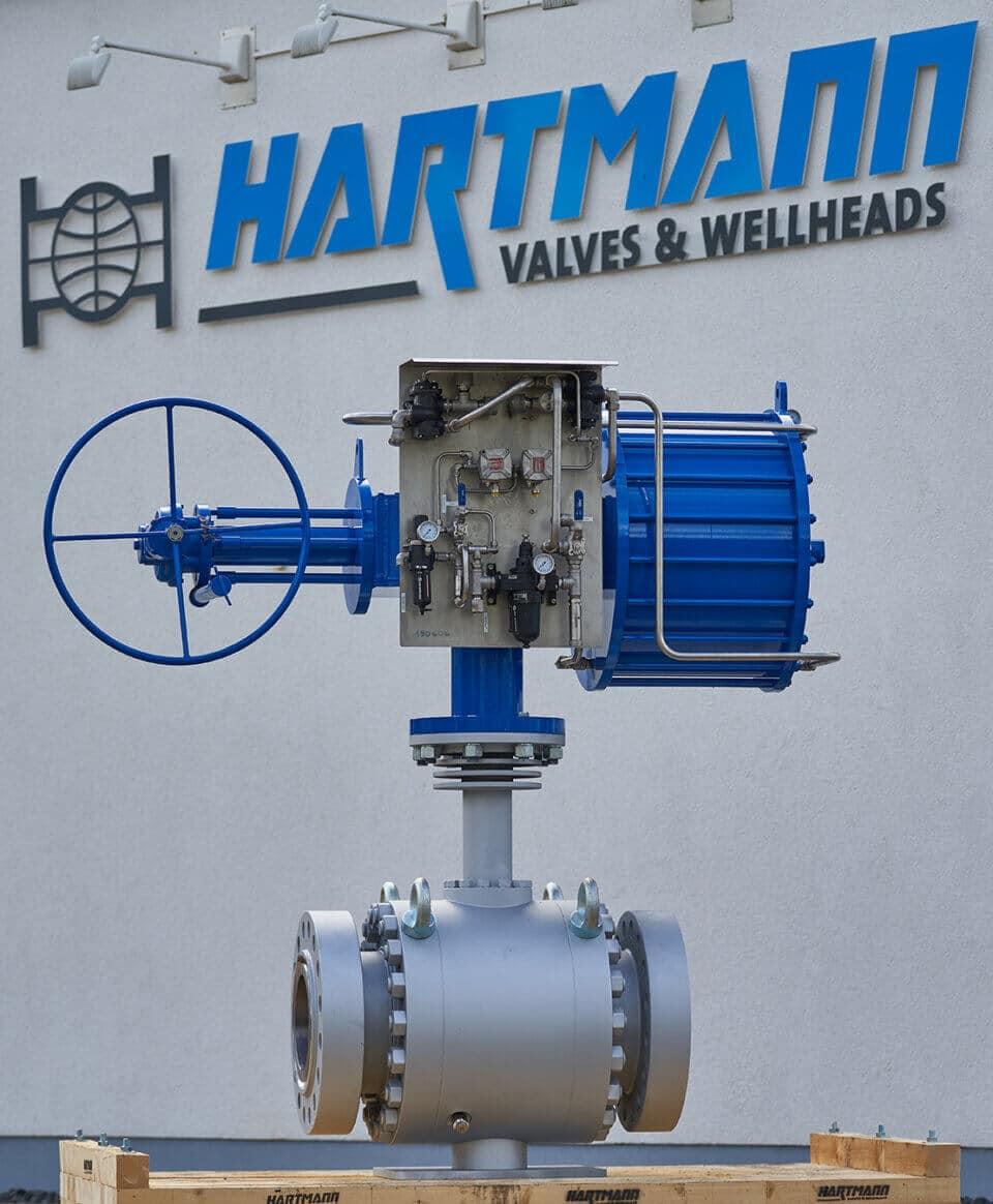 Hartmann Hot Temperature Ball Valve API 6D 375°C gastight metal-to-metal sealing petrochemical industry