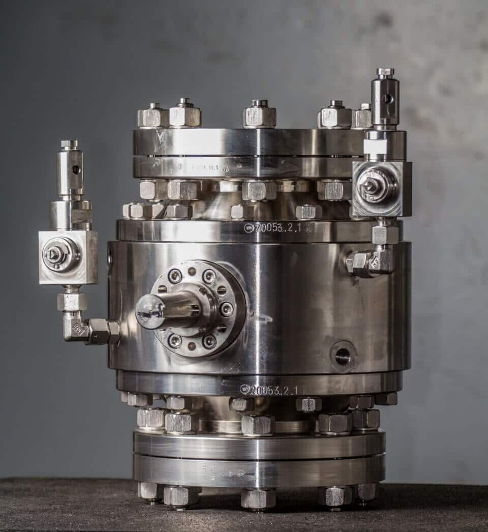 Hartmann Hydrogen H2 Ball Valve PED gastight metal-to-metal sealing FDA Chemical industry