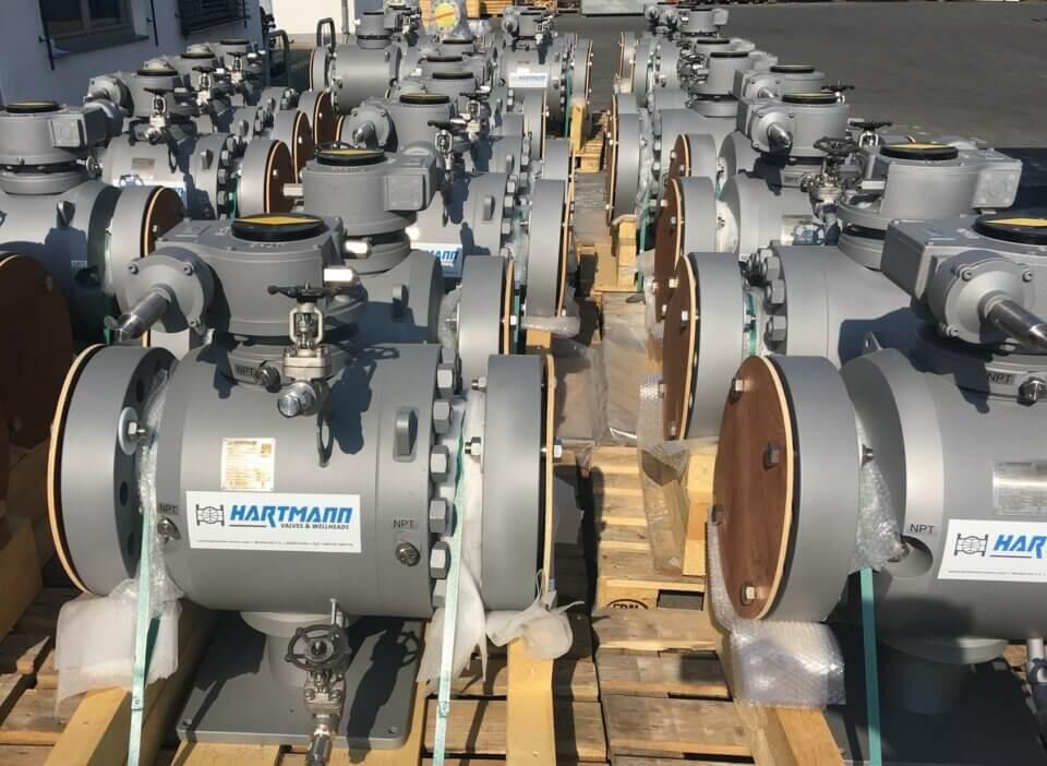 Hartmann Kugelhahn API 6D Full Inconel 625 Cladding gasdicht rein metallisch dichtend Öl Aramco