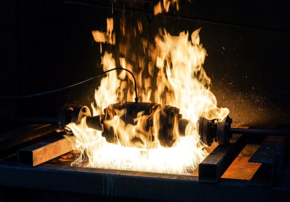 Hartmann Kugelhahn Fire Safe Test