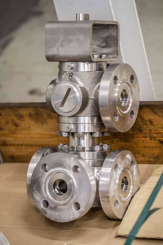 Hartmann Multiway Ball valve PED DN40 PN100 Fuel Oil Transfer Gas Turbine Siemens Ansaldo