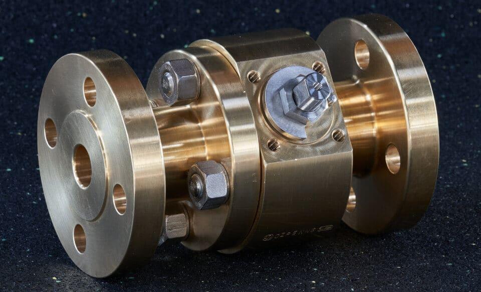 Hartmann Sauerstoff O2 Kugelhahn DGRL Messing gasdicht rein metallisch dichtend Chemie