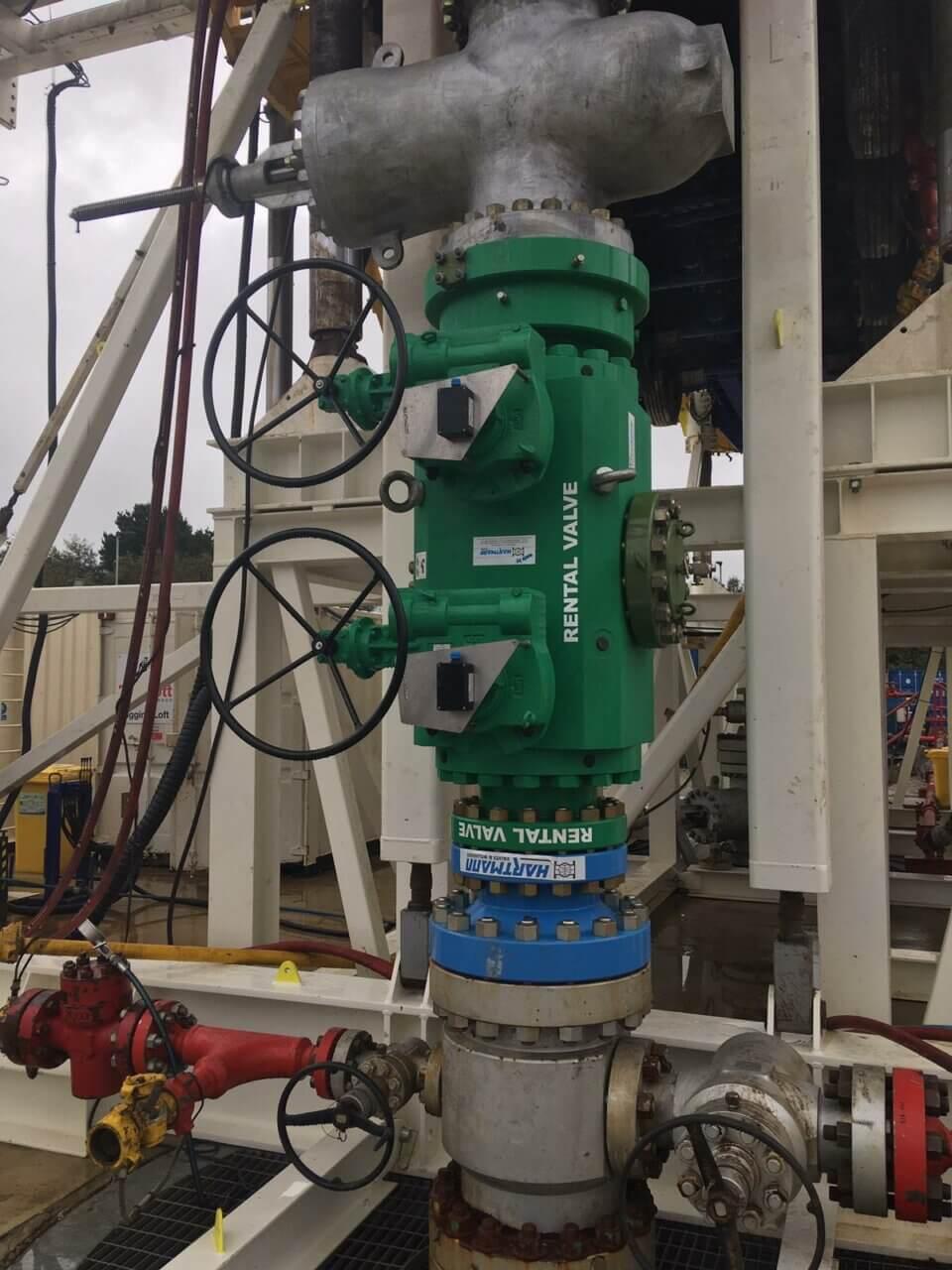 Hartmann Twin Ball Valve API 6A rental equipment gastight metal-to-metal sealing geothermal