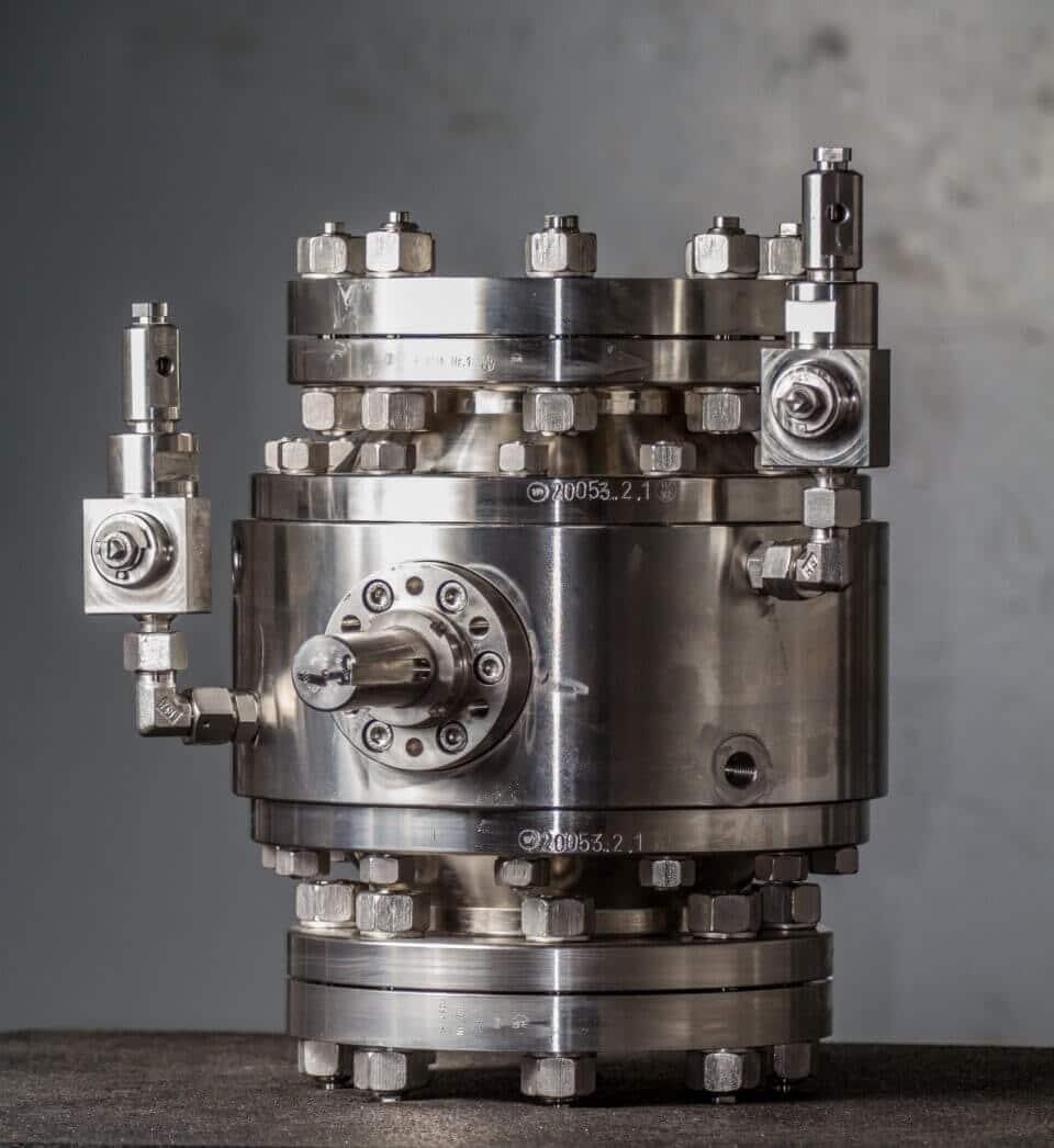 Hartmann Wasserstoff H2 Kugelhahn DGRL FDA gasdicht rein metallisch dichtend Chemie