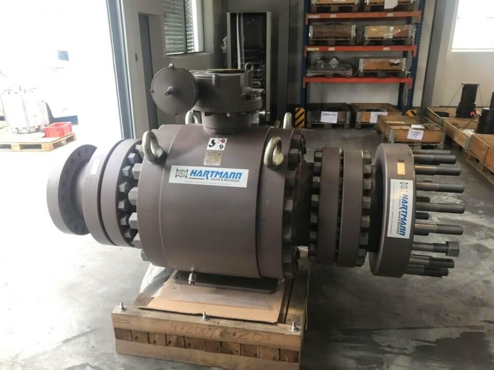 Hartmann rental equipment according to API 6A wellhead components and ball valve